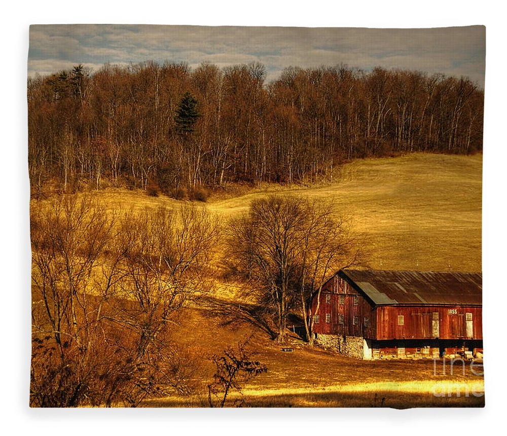 Barn Fleece Blanket featuring the photograph Sweet Sweet Surrender by Lois Bryan