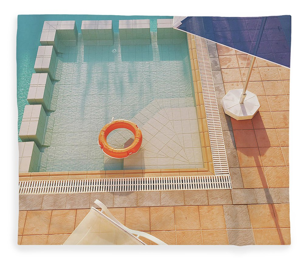 Water Fleece Blanket featuring the photograph Swimming Pool by Cassia Beck
