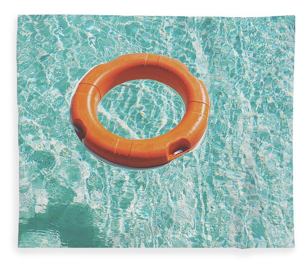 Water Fleece Blanket featuring the photograph Swimming Pool III by Cassia Beck