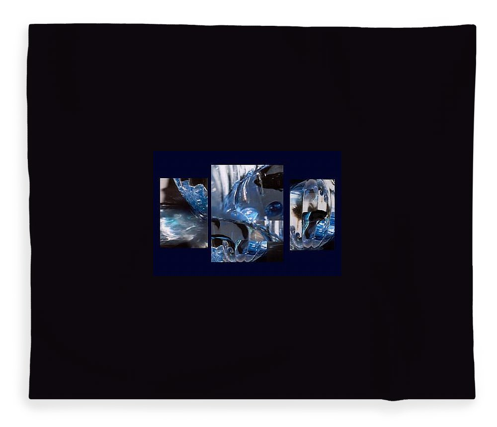 Abstract Of Betta In A Bowl Fleece Blanket featuring the photograph Swirl by Steve Karol