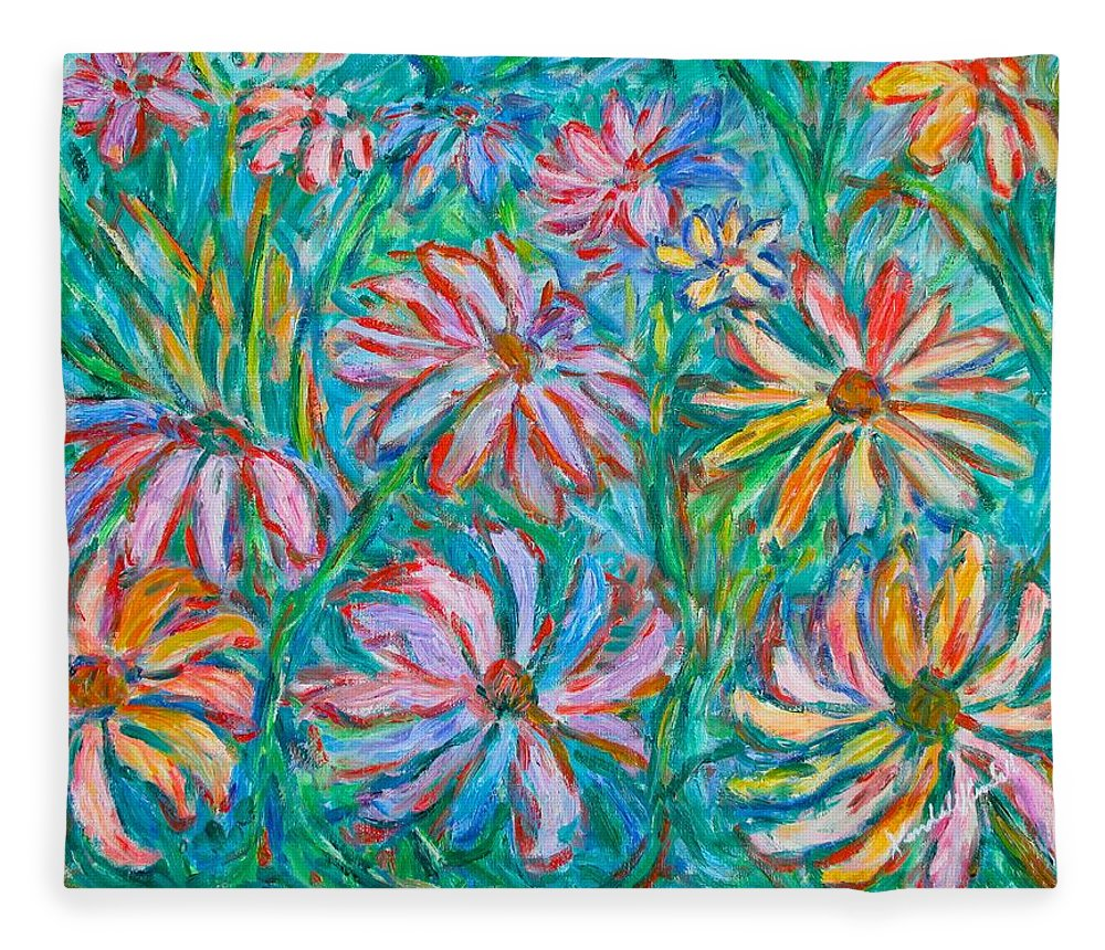 Impressionist Fleece Blanket featuring the painting Swirling Color by Kendall Kessler