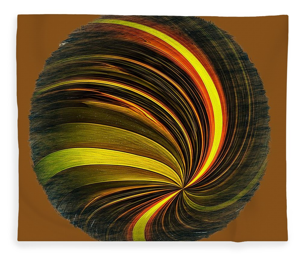 Abstract Fleece Blanket featuring the photograph Swirls And Curls by John M Bailey