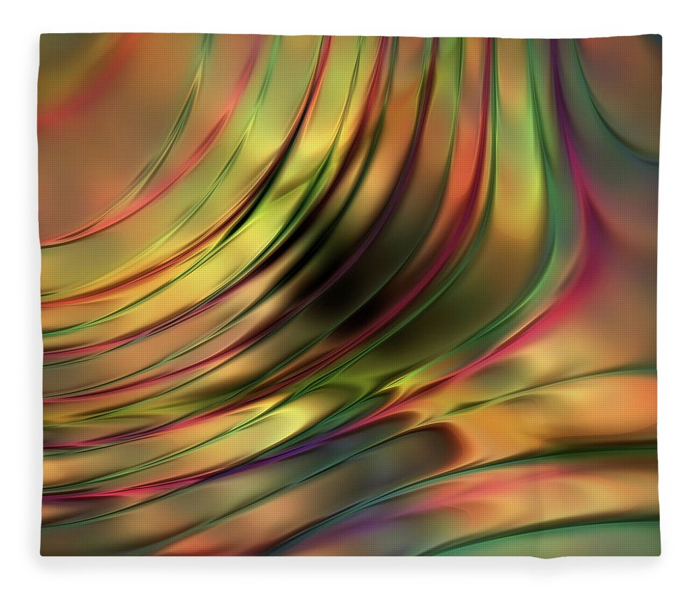 Tender Compassion Abstract Fleece Blanket featuring the digital art Tender Compassion by Georgiana Romanovna