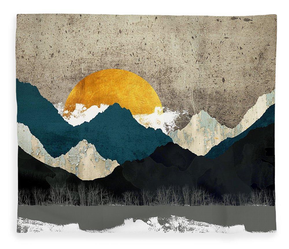 Thaw Fleece Blanket featuring the digital art Thaw by Katherine Smit