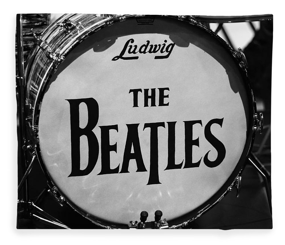 The Beatles Drum Fleece Blanket featuring the photograph The Beatles Drum by Dan Sproul