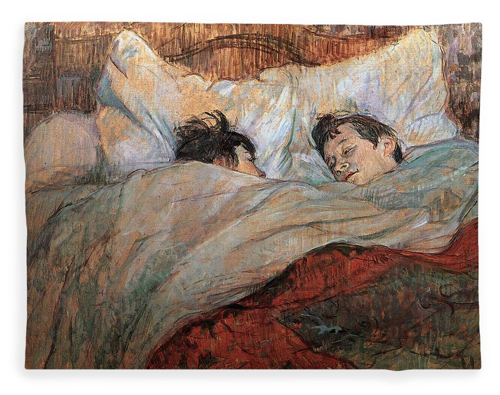 The Bed Fleece Blanket For Sale By Henri De Toulouse Lautrec