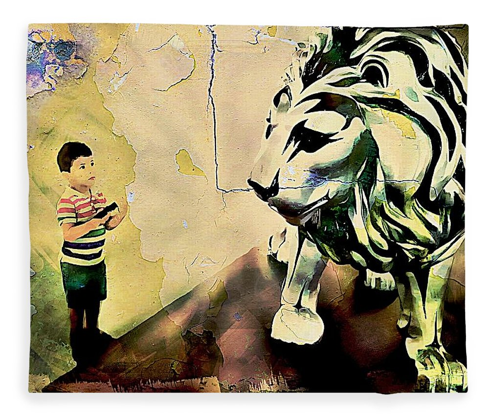 The Boy And The Lion Graffiti Creator,street-art Graffiti,street-art ...