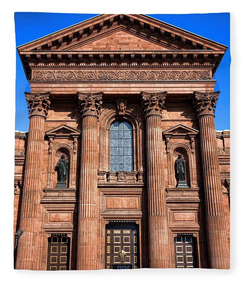 Cathedral Fleece Blanket featuring the photograph The Cathedral Basilica Of Saints Peter And Paul by Olivier Le Queinec