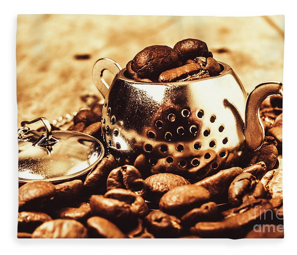 Afternoon Tea Fleece Blanket featuring the photograph The Coffee Roast by Jorgo Photography - Wall Art Gallery