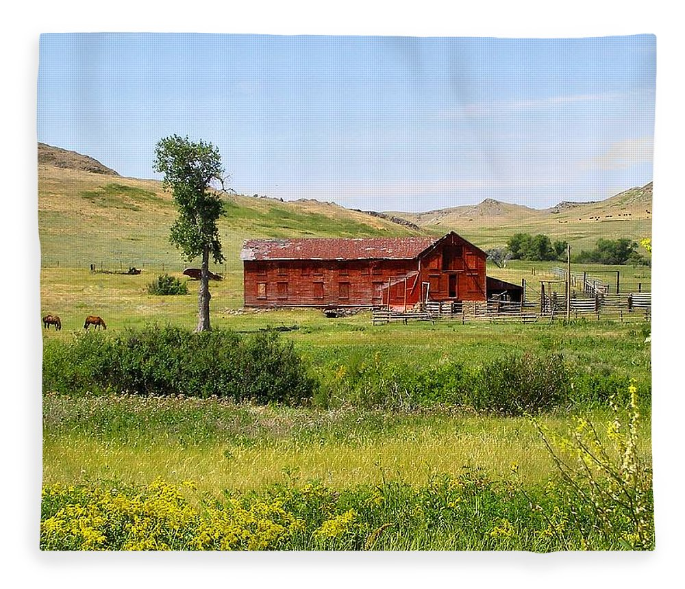 Montana Fleece Blanket featuring the photograph The Color of Montana by Susan Kinney
