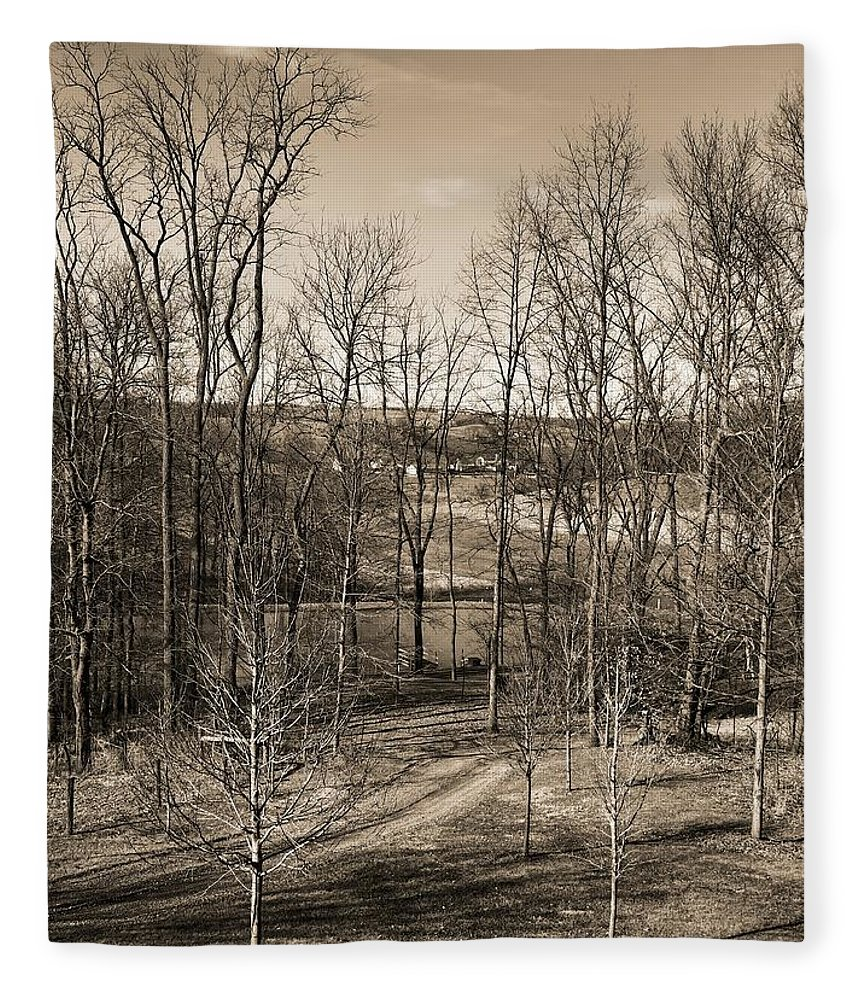 The Country Journey Fleece Blanket featuring the photograph The Country Journey by Dan Sproul