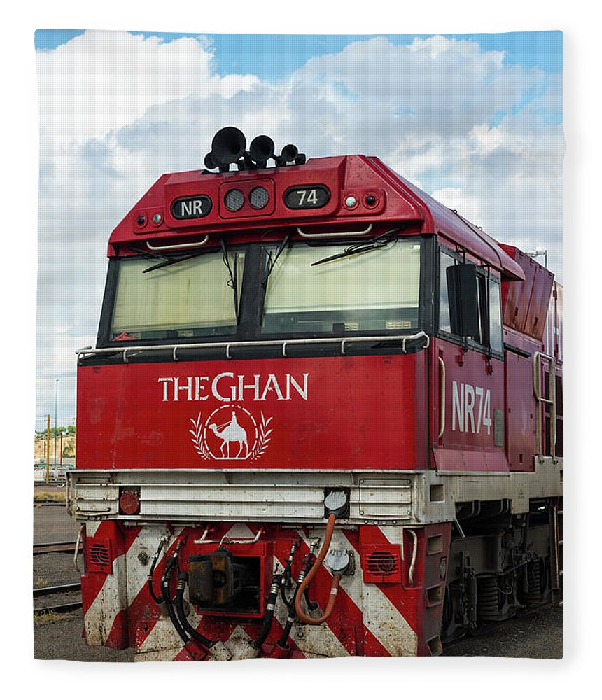 2017 Fleece Blanket featuring the photograph The Famed Ghan Train by Andrew Michael