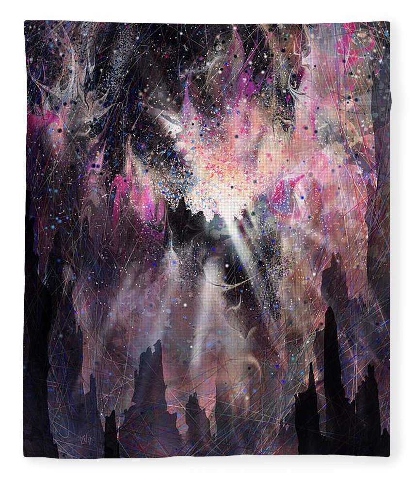 Landscape Fleece Blanket featuring the digital art The Gift by William Russell Nowicki
