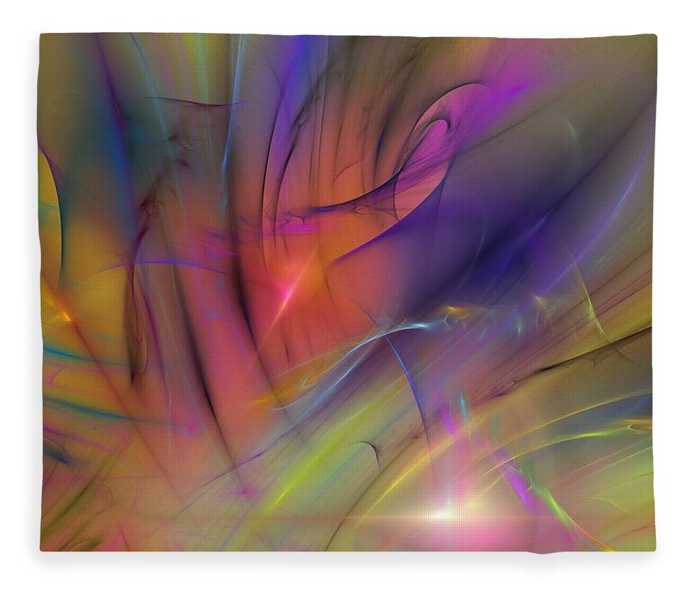 Abstract Fleece Blanket featuring the digital art The Gloaming by David Lane