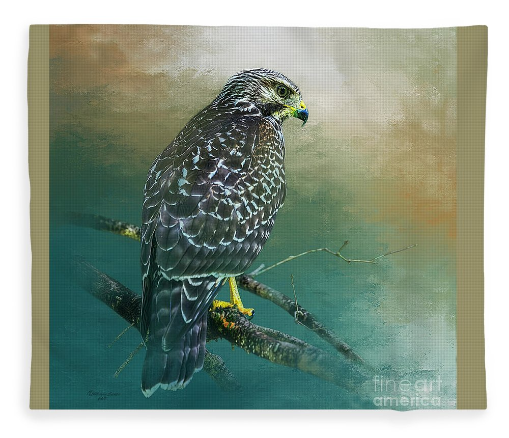 Bird Fleece Blanket featuring the photograph The Hunter by Marvin Spates