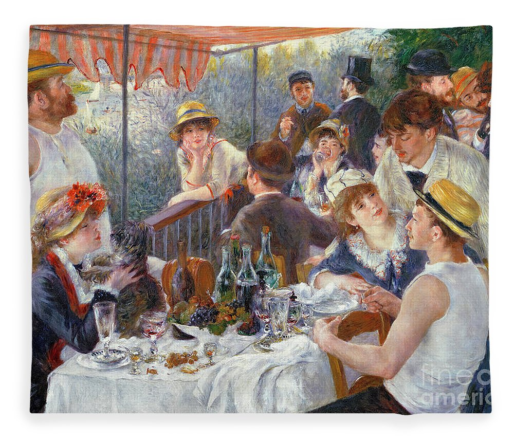 The Fleece Blanket featuring the painting The Luncheon of the Boating Party by Pierre Auguste Renoir
