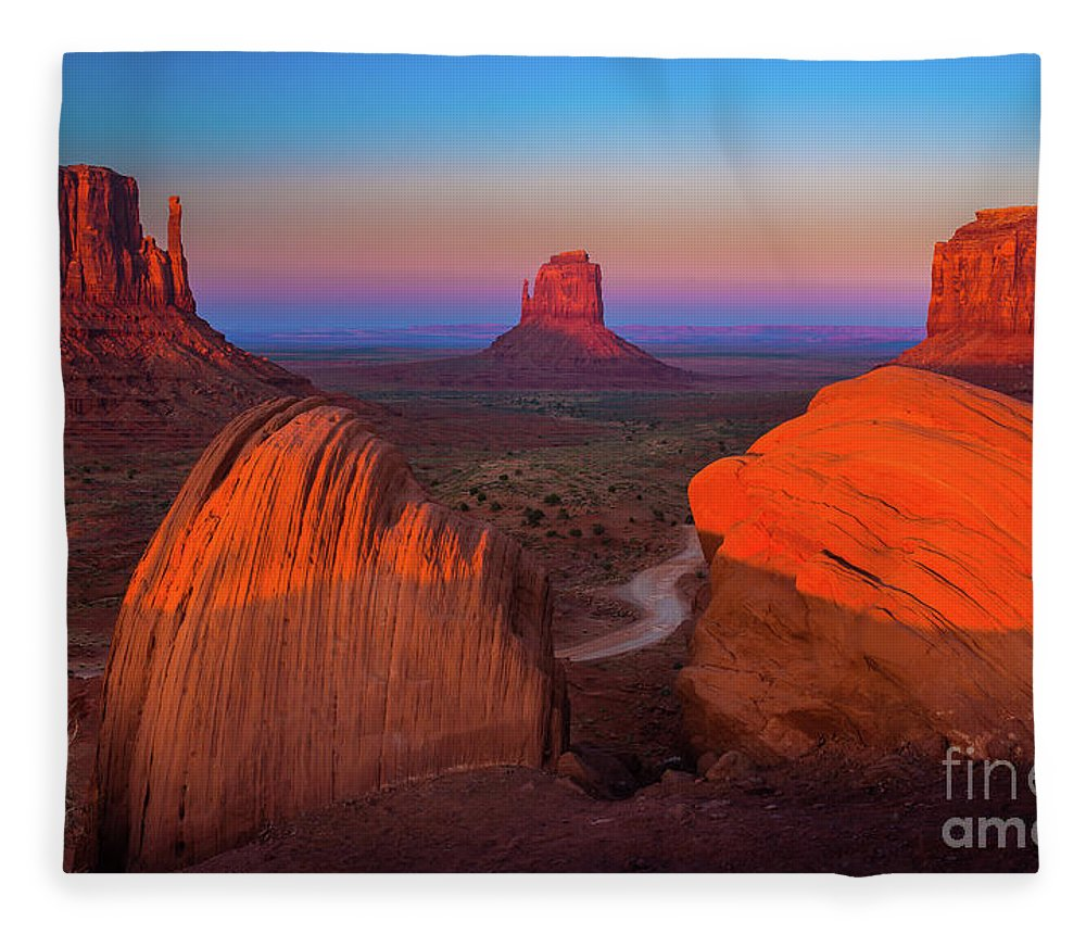America Fleece Blanket featuring the photograph The Mittens by Inge Johnsson
