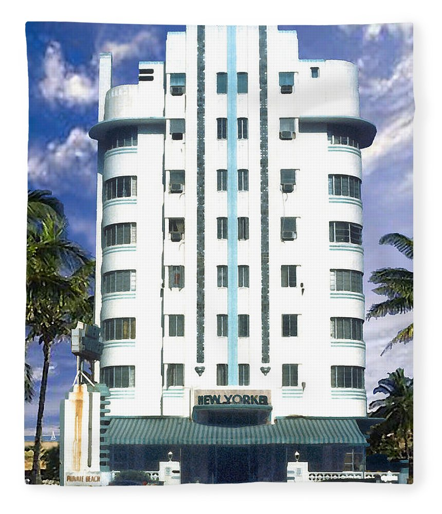 Miami Fleece Blanket featuring the photograph The New Yorker by Steve Karol