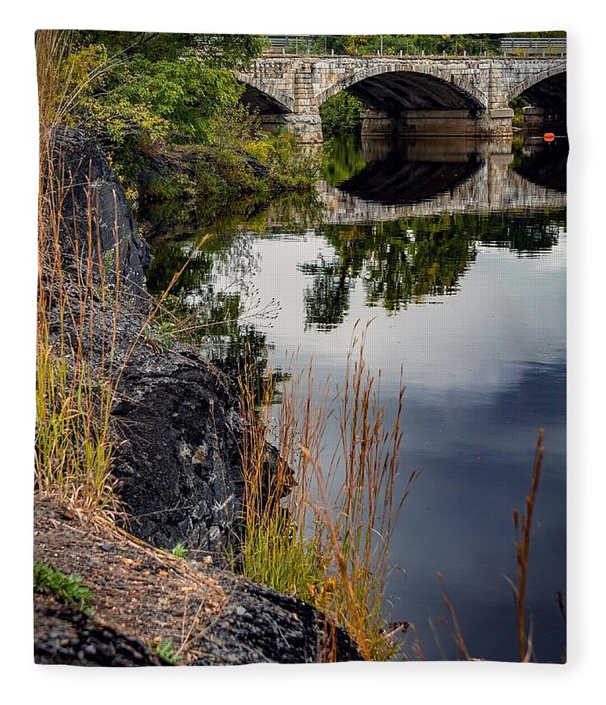 Fleece Blanket featuring the photograph The Old Bridge by Kendall McKernon