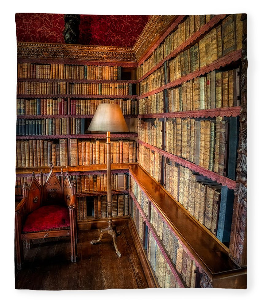 Library Fleece Blanket featuring the photograph The Old Library by Adrian Evans