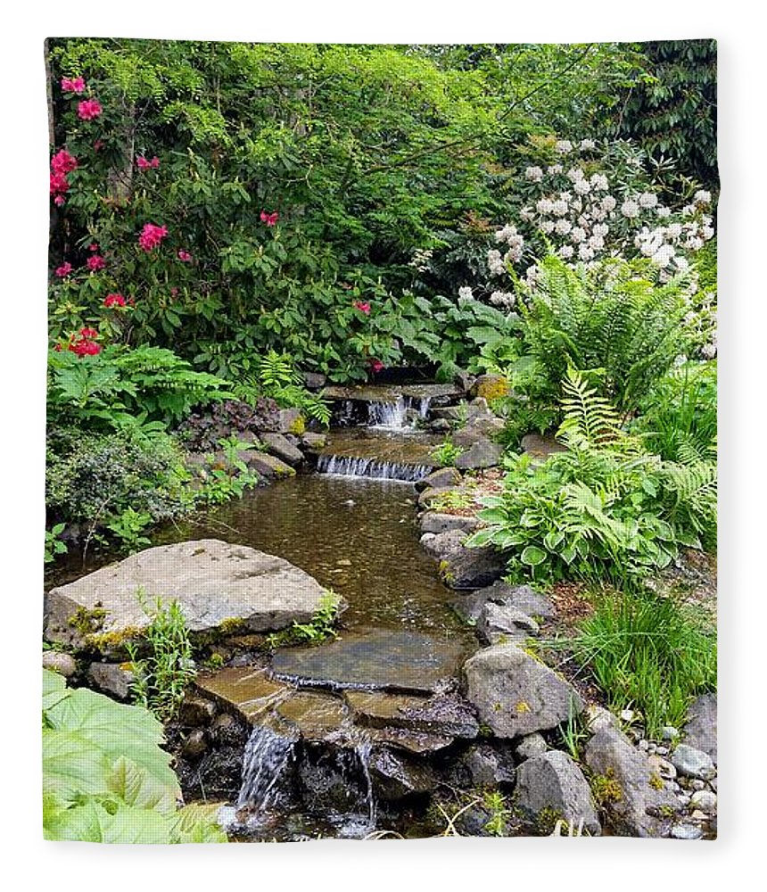 Botanical Flower's Nature Fleece Blanket featuring the photograph The peaceful place 11 by Valerie Josi