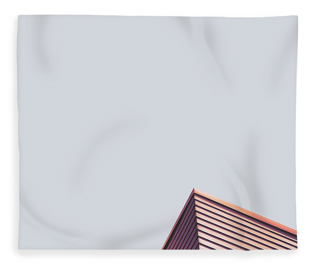 Point Fleece Blanket featuring the photograph The Point by Scott Norris