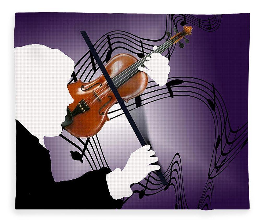 Violin Fleece Blanket featuring the digital art The Soloist by Steve Karol