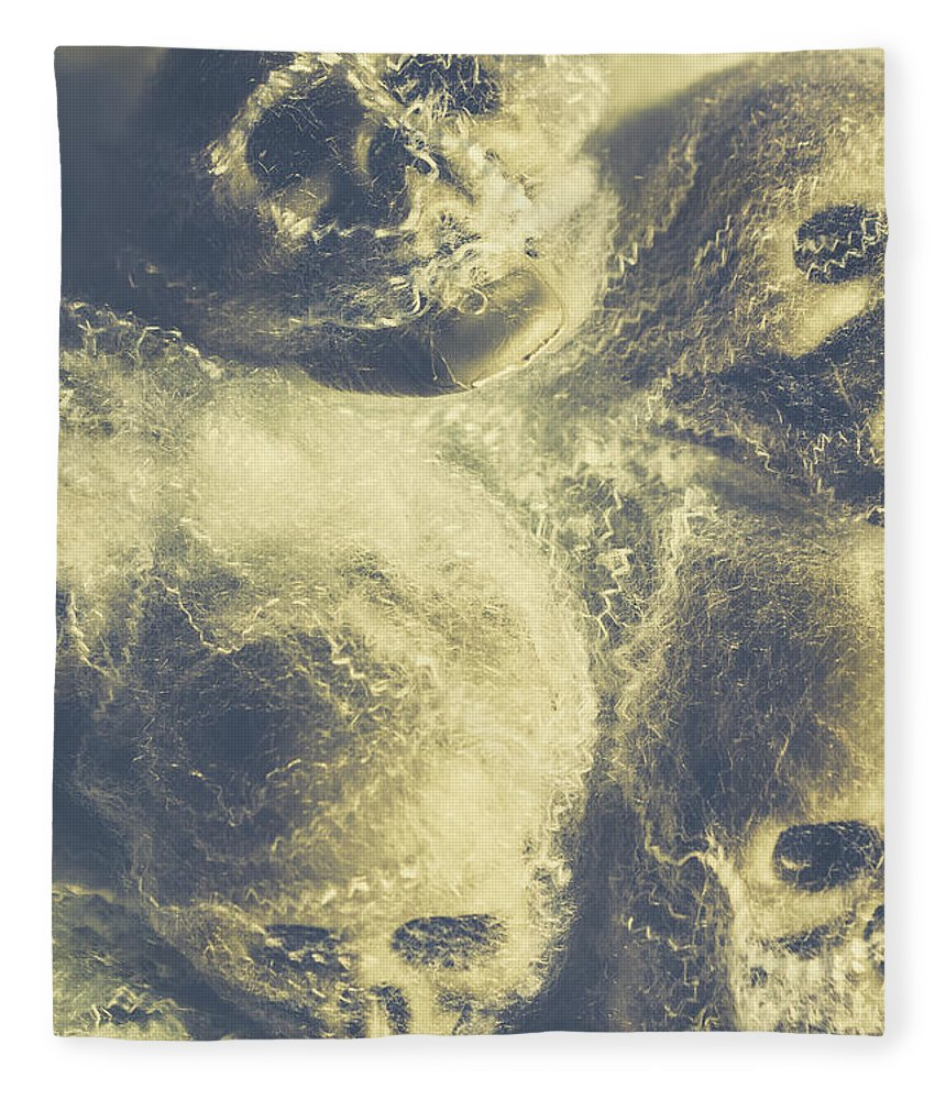 Halloween Fleece Blanket featuring the photograph The Spiders Torture Chamber by Jorgo Photography - Wall Art Gallery