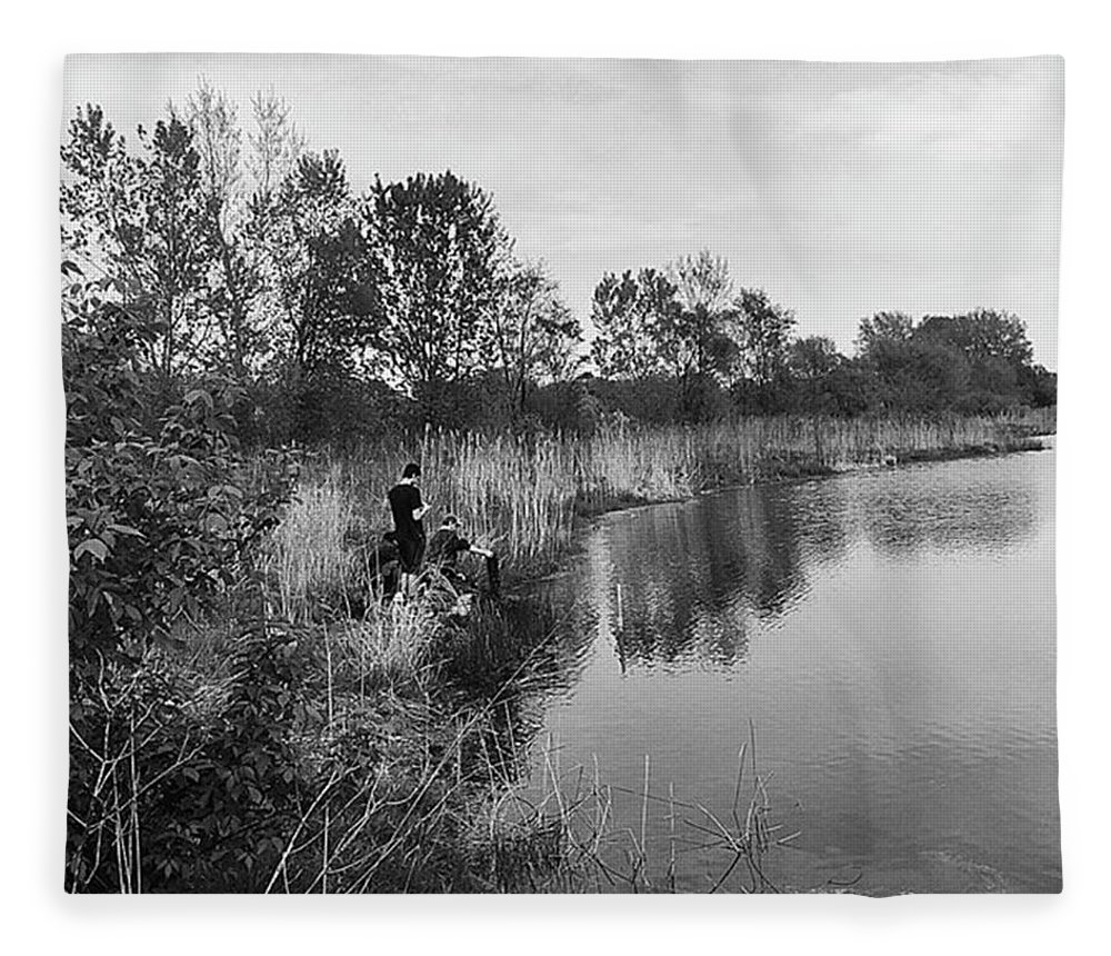 Water Fleece Blanket featuring the photograph Moving the Water by Frank J Casella