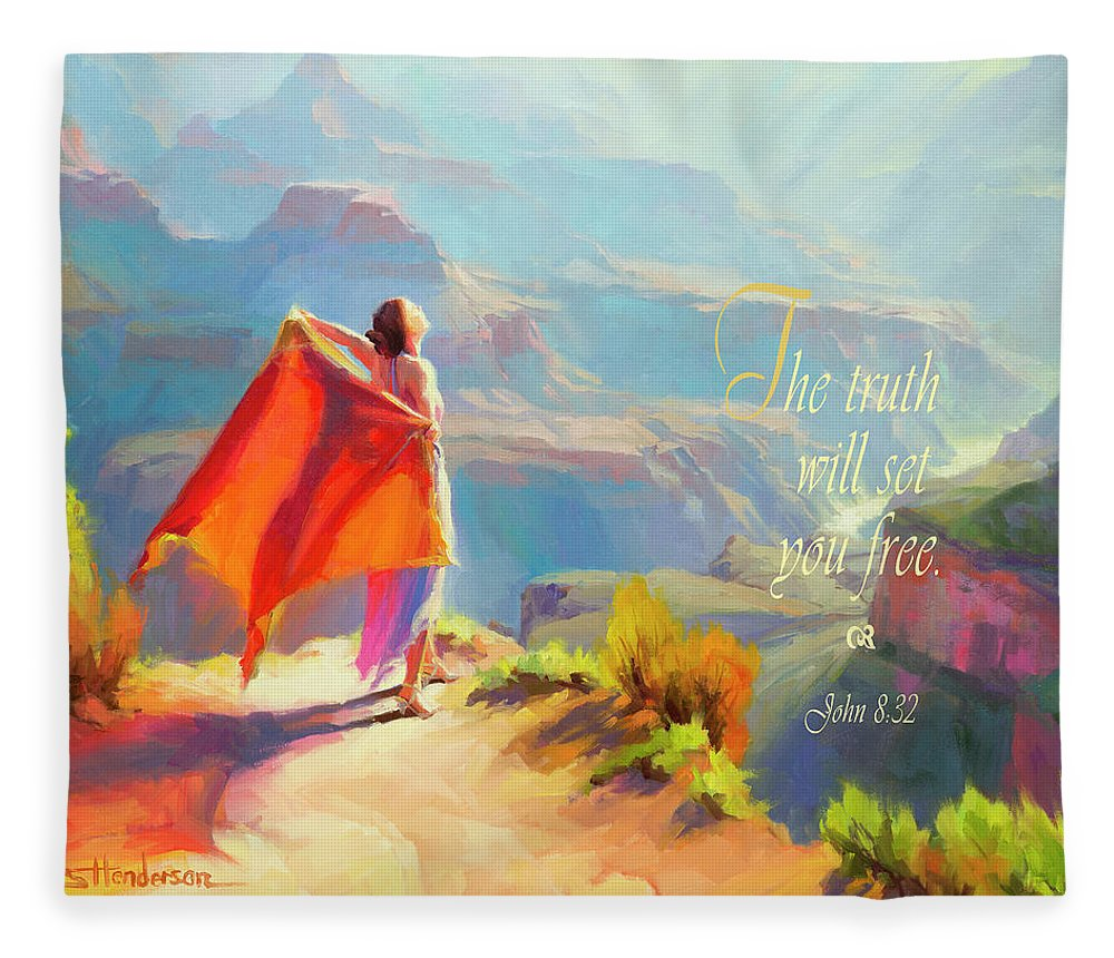 Eyrie Fleece Blanket featuring the digital art The Truth Will Set You Free by Steve Henderson
