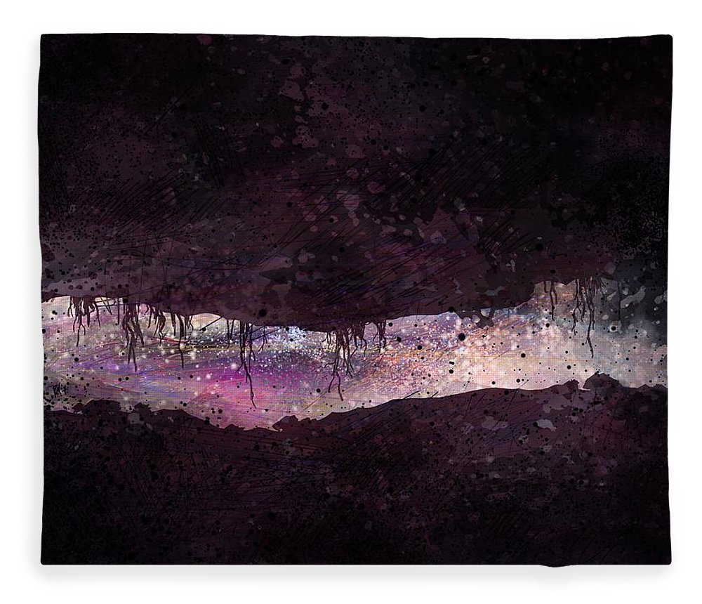 Tunnel Fleece Blanket featuring the digital art The Tunnel by William Russell Nowicki