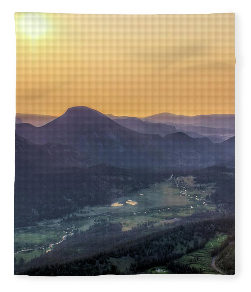 Rocky Mountains Fleece Blanket featuring the photograph The Valley Below - Rocky Mountain National Park by Nikolyn McDonald