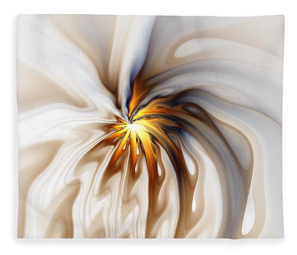 Digital Art Fleece Blanket featuring the digital art This too will pass... by Amanda Moore