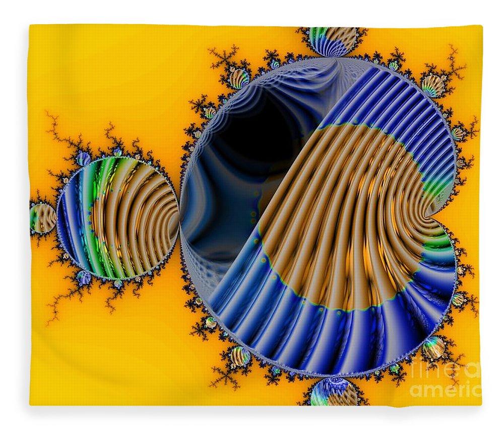 Julia Fractal Fleece Blanket featuring the digital art Thru a Julia Lens by Ron Bissett