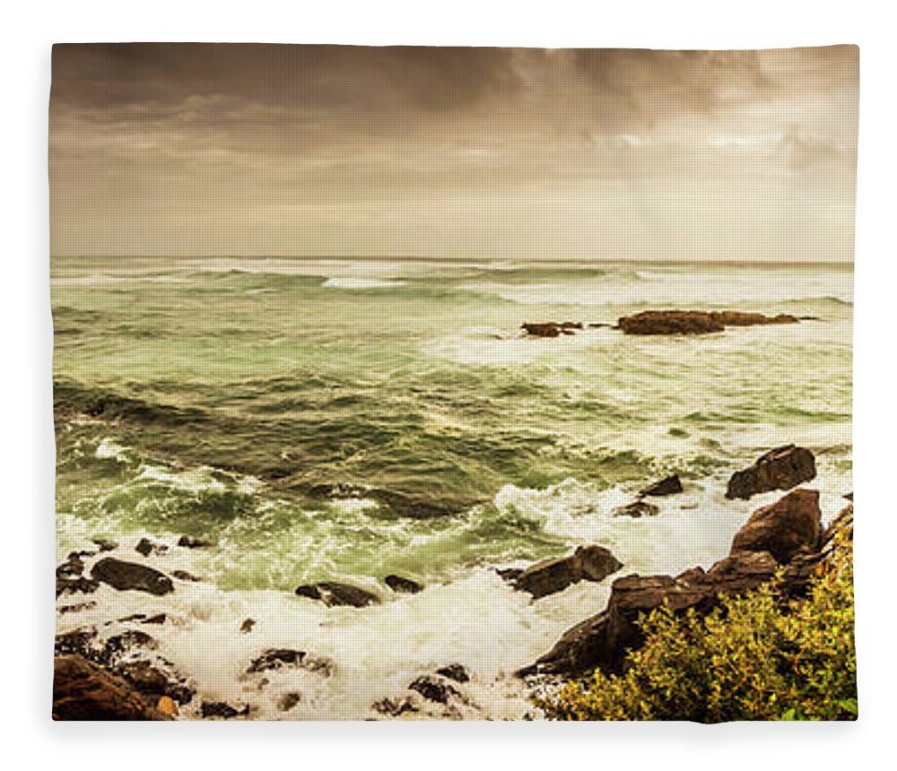 Wide Fleece Blanket featuring the photograph Tidal Vastness by Jorgo Photography - Wall Art Gallery