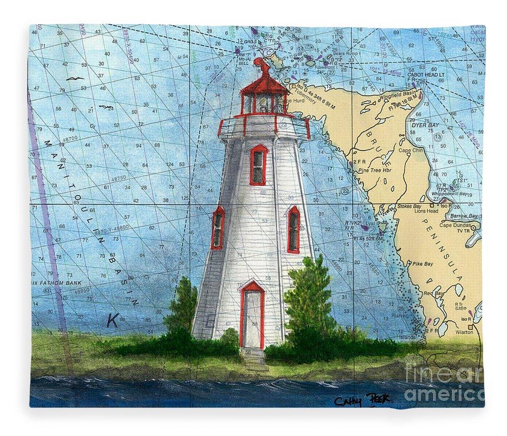 Lighthouse Art Throw Blanket from my original art