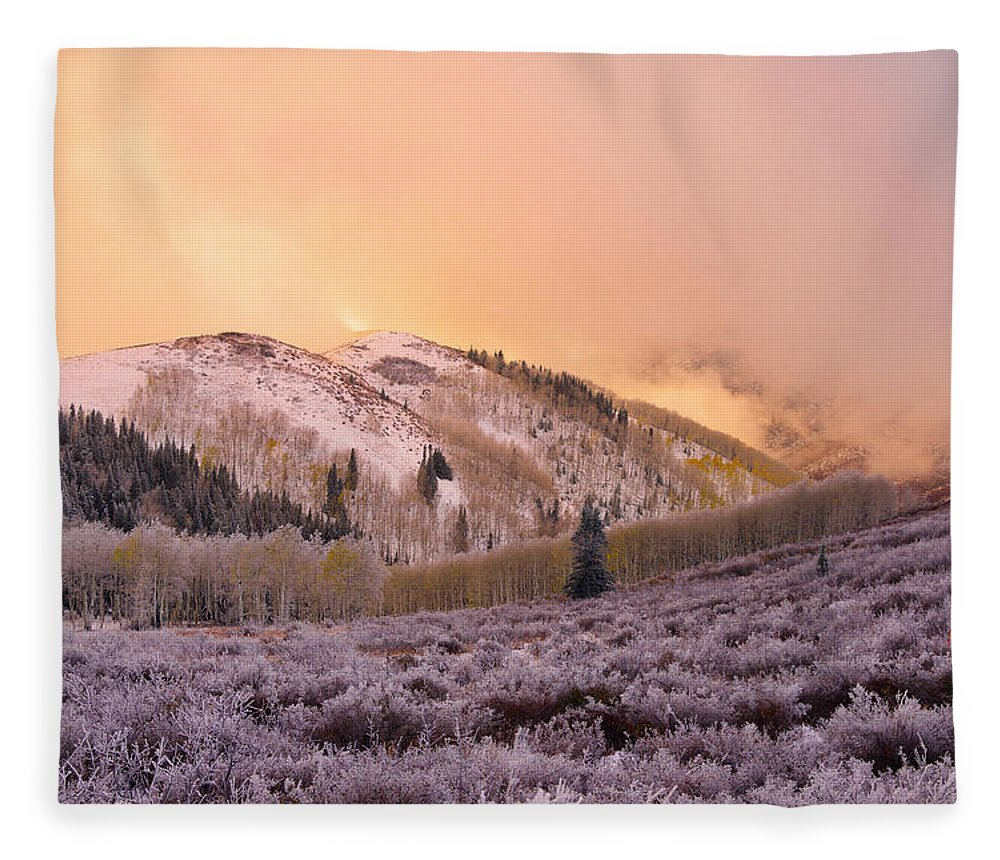 Touch Of Winter Fleece Blanket featuring the photograph Touch Of Winter by Chad Dutson