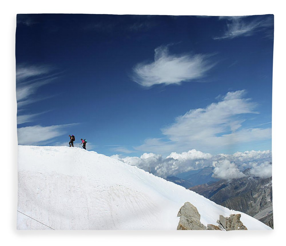 Mountain Fleece Blanket featuring the photograph Touching The Clouds by Deborah Brodie