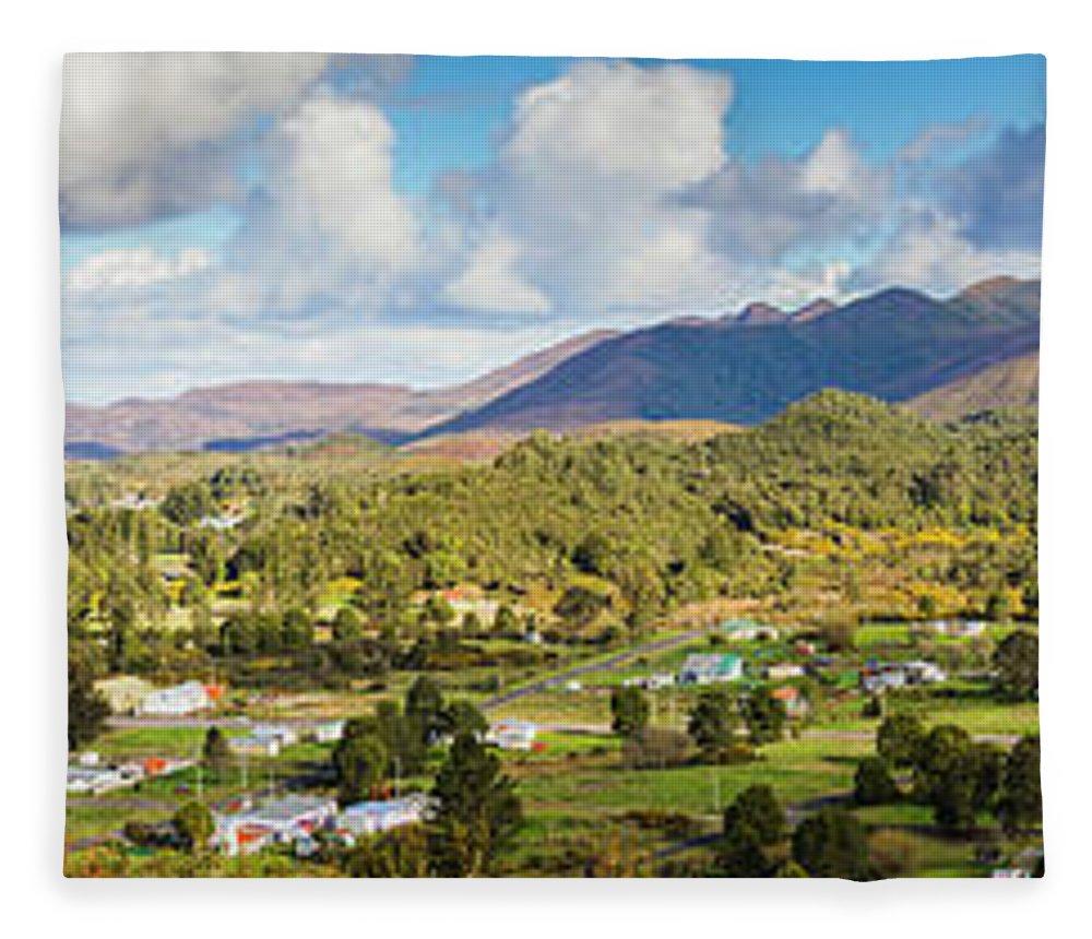 Tasmania Fleece Blanket featuring the photograph Town Of Zeehan Australia by Jorgo Photography - Wall Art Gallery