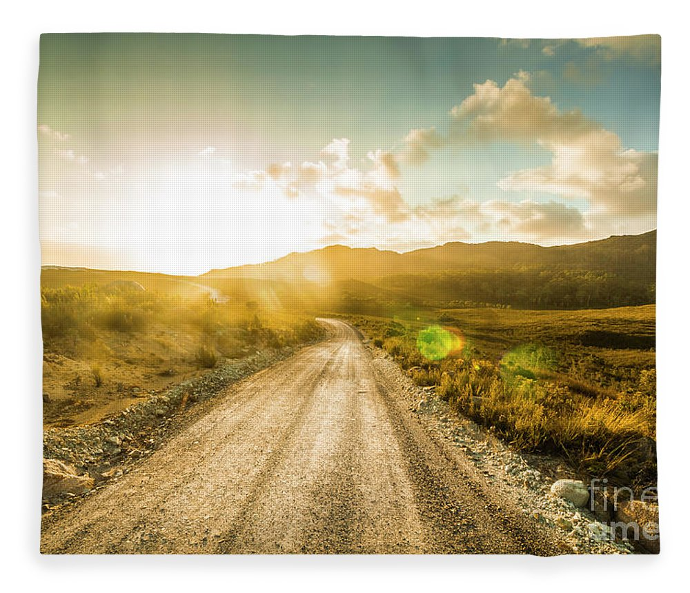 Road Fleece Blanket featuring the photograph Trail To Trial by Jorgo Photography - Wall Art Gallery