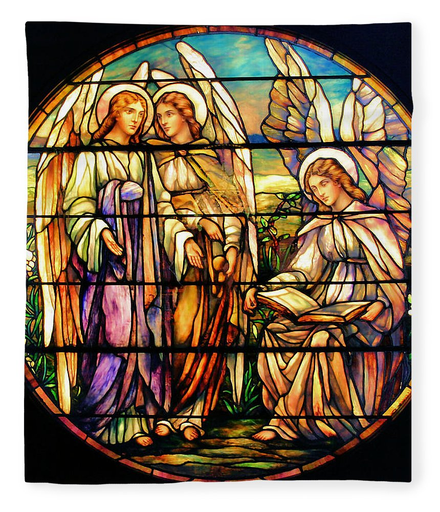 Angels Fleece Blanket featuring the photograph Trio Of Angels by Kristin Elmquist