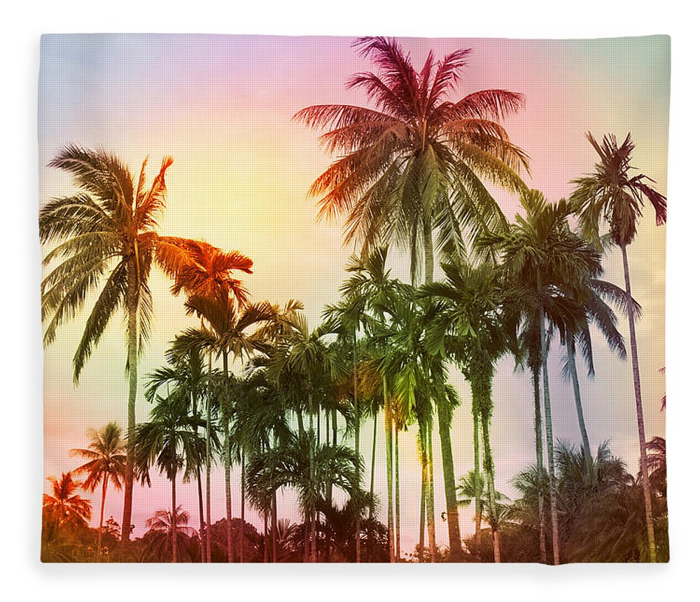 Tropical Fleece Blanket featuring the photograph Tropical 11 by Mark Ashkenazi