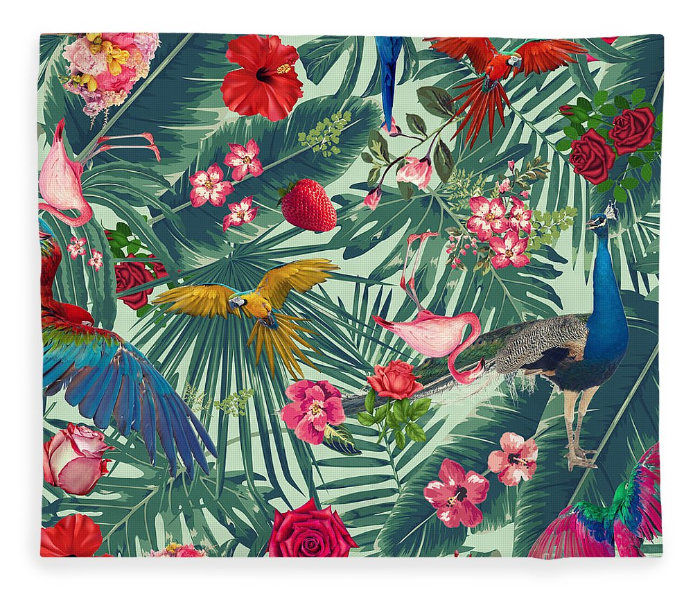 Summer Fleece Blanket featuring the photograph Tropical Fun Time by Mark Ashkenazi