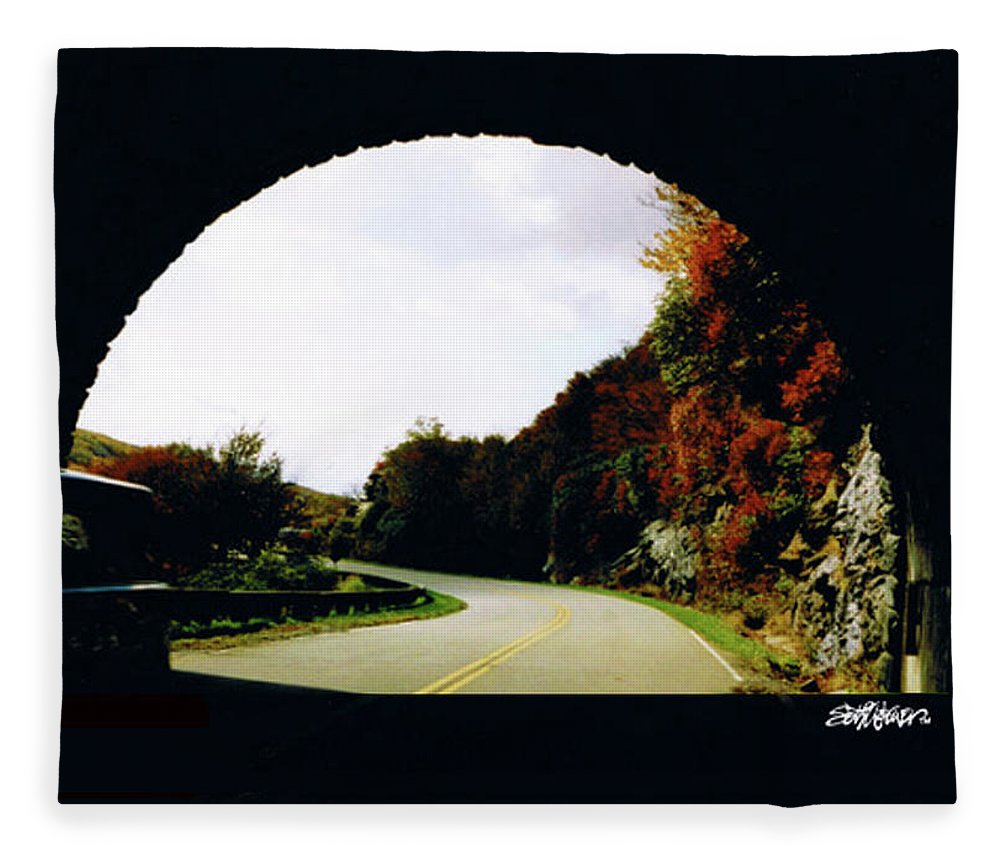 Tunnel Vision Fleece Blanket featuring the photograph Tunnel Vision by Seth Weaver