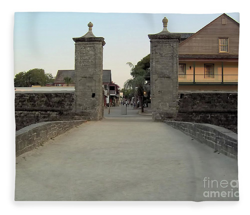 City Gates Fleece Blanket featuring the photograph Twilight At The City Gates by D Hackett