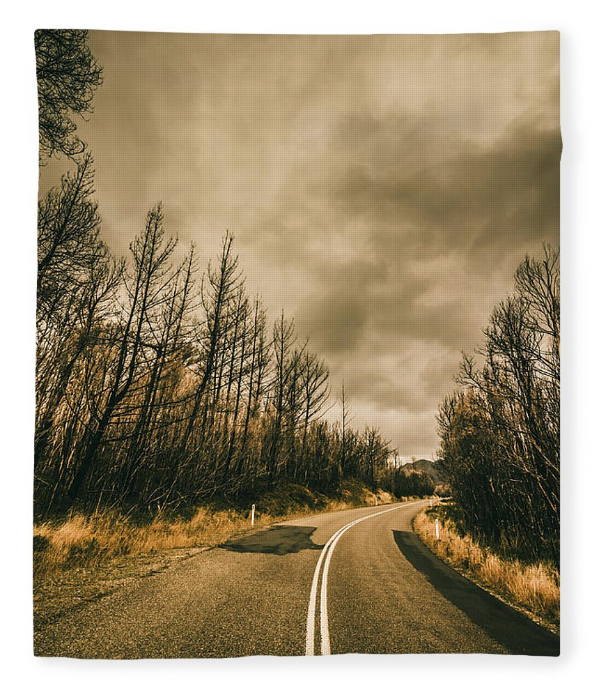 Turns Fleece Blanket featuring the photograph Twists And Turns by Jorgo Photography - Wall Art Gallery