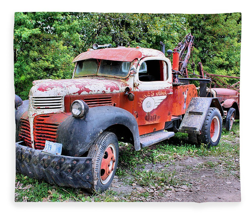Old Truck Fleece Blanket featuring the photograph Two for One by Kristin Elmquist