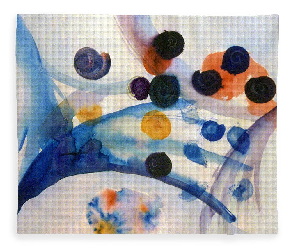 Abstract Fleece Blanket featuring the painting Under the Sea by Steve Karol