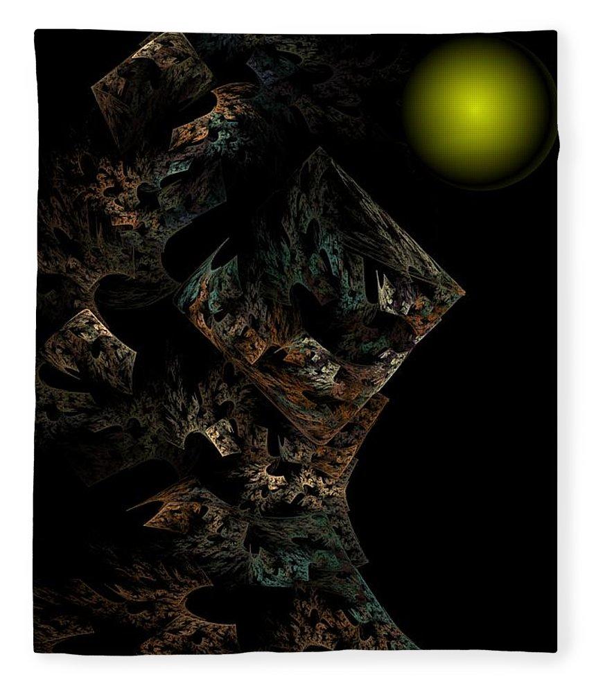 Fantasy Fleece Blanket featuring the digital art Untitled 12-18-09 by David Lane