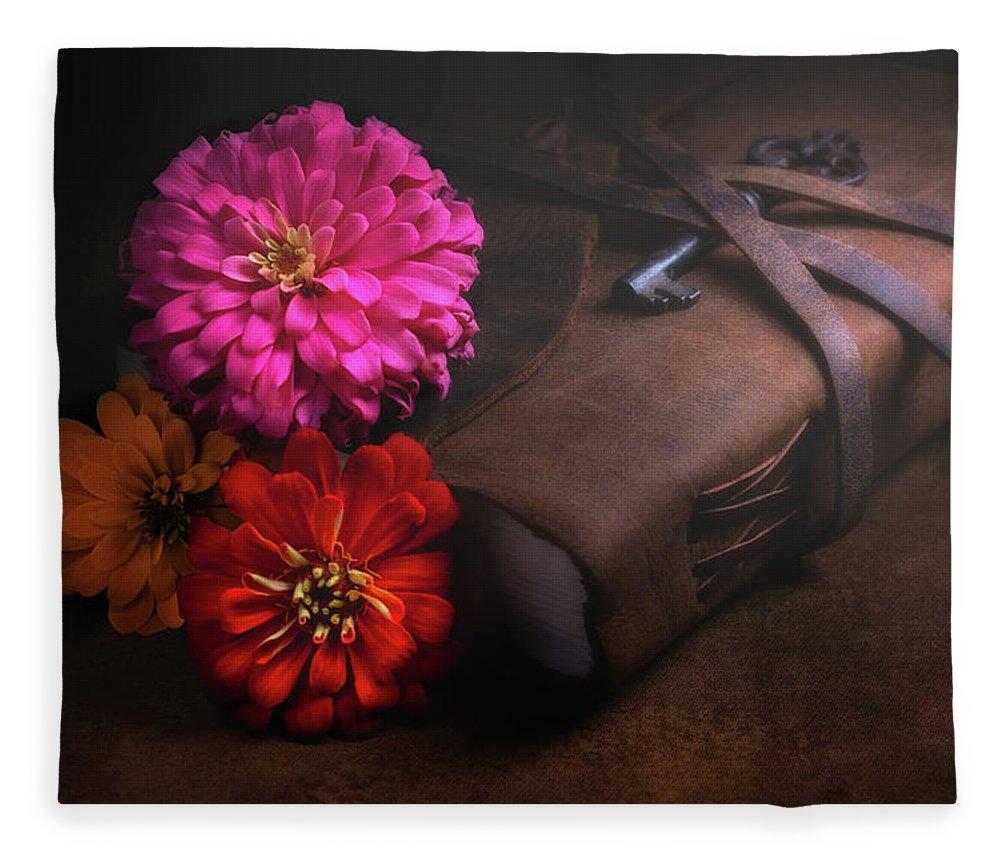 Dahlia Fleece Blanket featuring the photograph Untold Secrets by Tom Mc Nemar